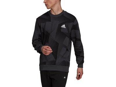 adidas Herren Sportswear Graphic Sweatshirt Schwarz