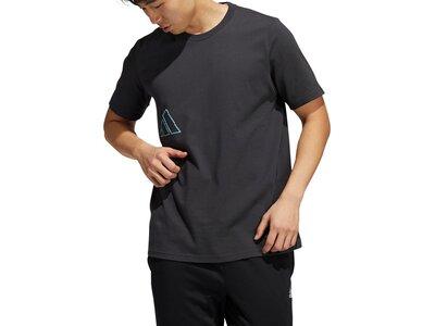 adidas Herren Connected Through Sport Graphic T-Shirt Schwarz