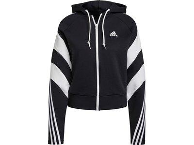 adidas Damen Sportswear Colorblock Full-Zip Jacke Grau