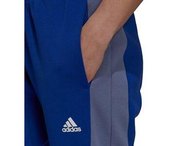 adidas Damen Sportswear Colorblock Hose Blau