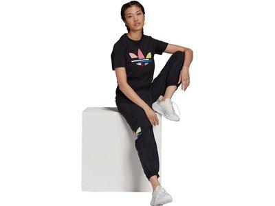adidas Damen adicolor Shattered Trefoil T-Shirt Schwarz