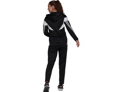 adidas Damen Sportswear Colorblock Trainingsanzug Schwarz
