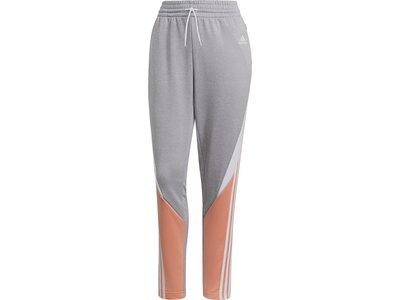adidas Damen Sportswear Colorblock Trainingsanzug Grau