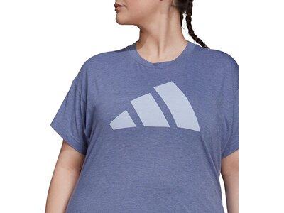 adidas Damen Sportswear Winners T-Shirt 2.0 – Große Größen Grau