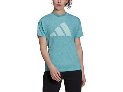 adidas Damen Sportswear Winners T-Shirt 2.0 Blau