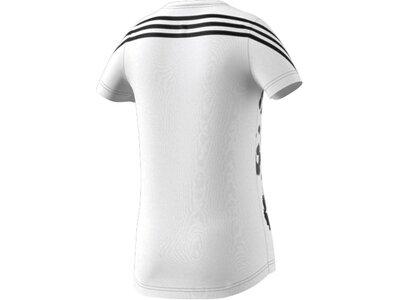 adidas Kinder 3-Streifen Graphic T-Shirt Silber