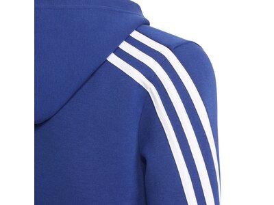adidas Kinder Future Icons 3-Streifen Kapuzenjacke Blau