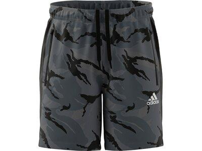 adidas Herren AEROREADY Designed to Move Sport Camo-Print Shorts Grau