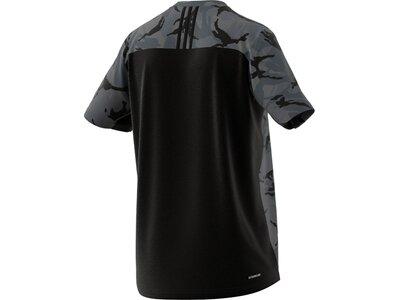 adidas Herren AEROREADY Designed to Move Sport Camo Logo T-Shirt Grau