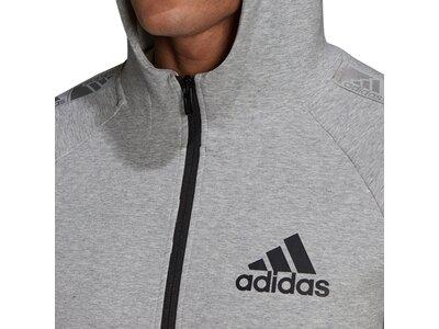 adidas Herren AEROREADY Designed to Move Sport Motion Logo Kapuzenjacke Grau