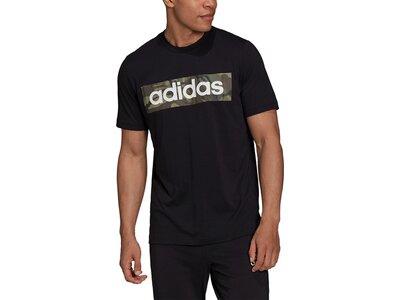 adidas Herren AEROREADY Designed to Move Sport Cotton Touch Camo T-Shirt Schwarz