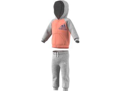 adidas Kinder Badge of Sport Full-Zip Jogginganzug Grau
