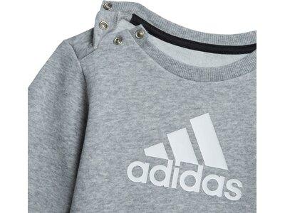 adidas Kinder Badge of Sport Jogginganzug Grau