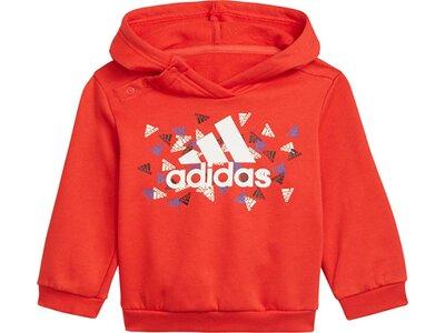 adidas Kinder Badge of Sport Graphic Jogginganzug Rot