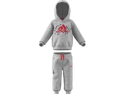 adidas Kinder Badge of Sport Graphic Jogginganzug Grau
