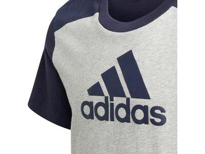adidas Kinder Logo T-Shirt Silber