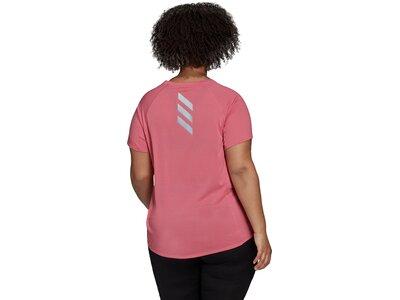 adidas Damen Runner T-Shirt – Große Größen Pink