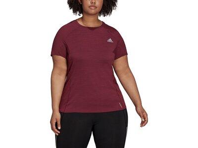 adidas Damen Runner T-Shirt – Große Größen Braun