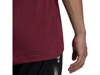 adidas Herren AEROREADY Designed 2 Move Feelready Sport T-Shirt Rot