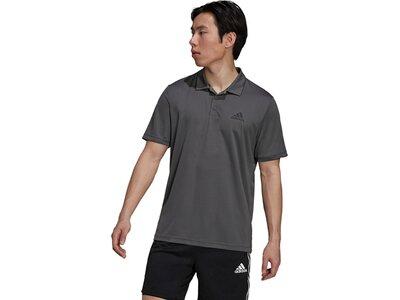 adidas Herren AEROREADY Designed To Move Sport Poloshirt Grau
