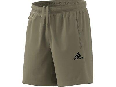 adidas Herren AEROREADY Designed 2 Move Woven Sport Shorts Braun