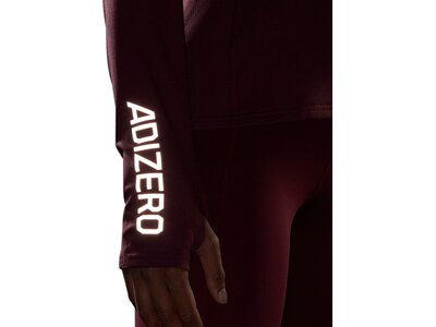 adidas Damen Adizero 1/2 Zip Longsleeve Braun