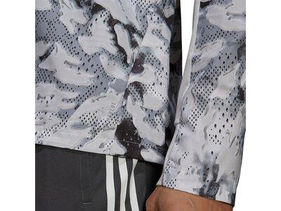 adidas Herren Fast Graphic Primeblue Jacke Silber