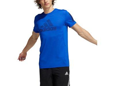 adidas Herren AEROREADY Warrior T-Shirt Blau