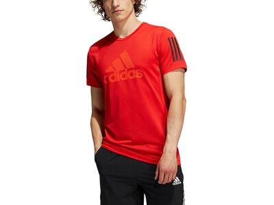 adidas Herren AEROREADY Warrior T-Shirt Rot