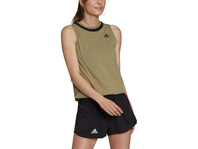 adidas Damen Club Knotted Tennis Tanktop Braun