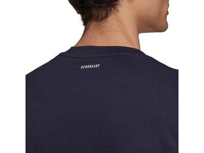 adidas Herren Club Tennis 3-Streifen T-Shirt Schwarz