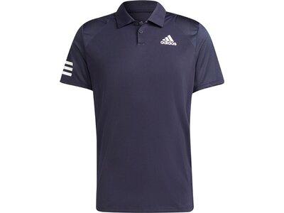 adidas Herren Tennis Club 3-Streifen Poloshirt Grau