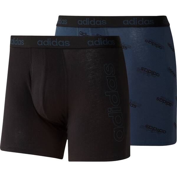 adidas Herren Essentials Logo Boxershorts, 2er-Pack