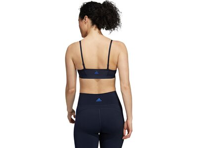 adidas Damen All Me 3-Streifen Sport-BH Blau