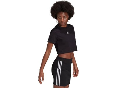 adidas Damen adicolor Essentials Cropped T-Shirt Schwarz