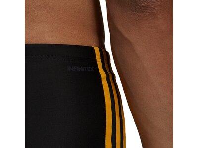 adidas Herren 3-Streifen Boxer-Badehose Schwarz