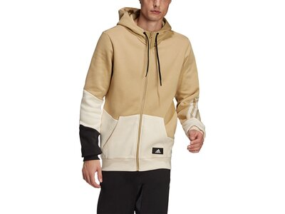 adidas Herren Sportswear Colorblock Kapuzenjacke Braun