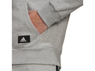 adidas Herren Sportswear Future Icons 3-Streifen Kapuzenjacke Silber