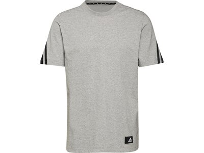 adidas Herren Sportswear Future Icons 3-Streifen T-Shirt Silber