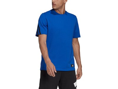 adidas Herren Sportswear Future Icons 3-Streifen T-Shirt Blau