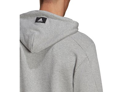adidas Herren Sportswear Future Icons Logo Graphic Hoodie Silber