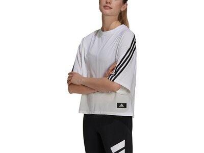 adidas Damen Sportswear Future Icons 3-Streifen T-Shirt Silber