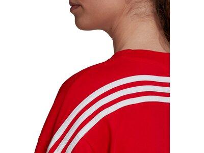 adidas Damen Sportswear Future Icons 3-Streifen T-Shirt Rot