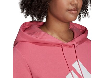 adidas Damen Essentials Logo Fleece Hoodie – Große Größen Pink
