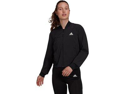 adidas Damen AEROREADY Designed to Move Print Cropped Trainingsjacke Schwarz