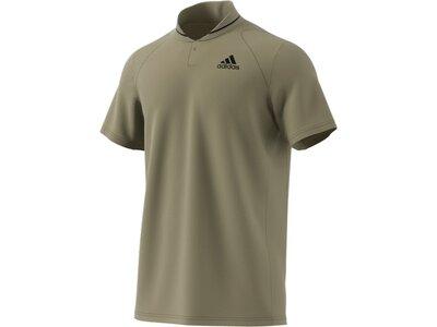 adidas Herren Club Tennis Ribbed Poloshirt Grau