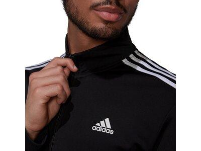 adidas Herren Primegreen Essentials Warm-Up 3-Streifen Trainingsjacke Schwarz