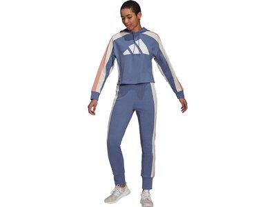 adidas Damen Sportswear Badge of Sport Logo Trainingsanzug Blau