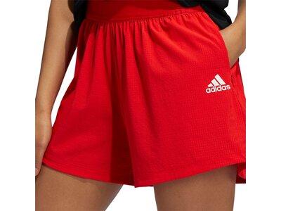 adidas Damen Training HEAT.RDY Lightweight Woven Shorts Rot