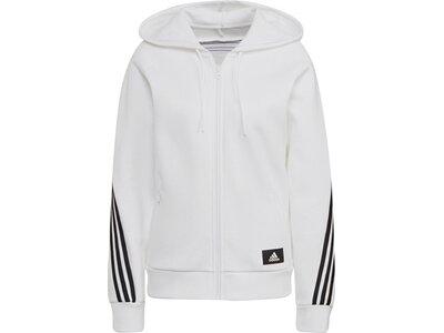 adidas Damen Sportswear Future Icons 3-Streifen Kapuzenjacke Grau